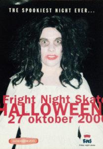 Foto voor een feest flyer van de stichting Friday Night Skate.